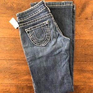 True Religion flare bottom jeans